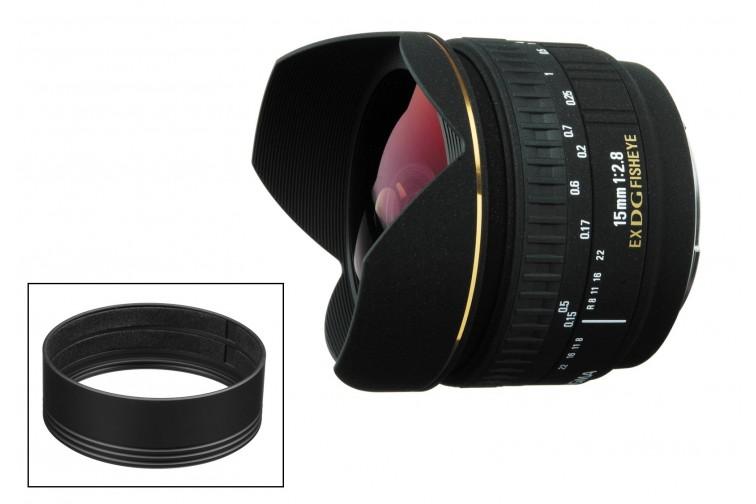 Objetiva Prime Sigma DG 15mm f2.8 EX Fisheye + Adaptador Filtros CA475-72 (para Canon EF)