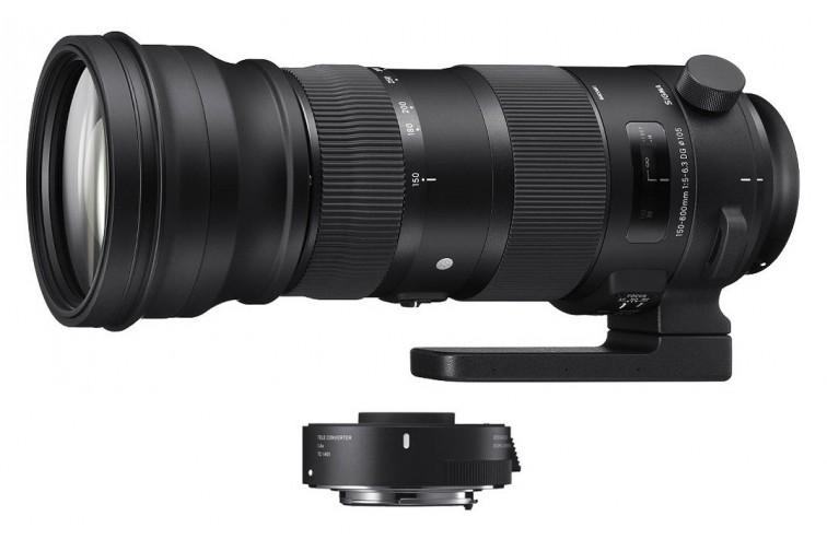 Objetiva Zoom Sigma DG 150-600mm f/5-6.3 OS HSM Sports + Teleconversor 1,4x TC-1401 (para Canon EF)