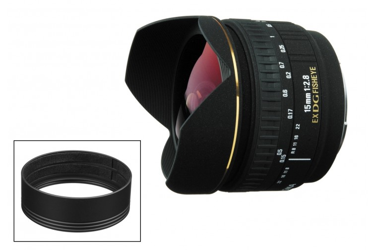 Objetiva Prime Sigma DG 15mm f2.8 EX Fisheye + Adaptador Filtros CA475-72 (para Nikon F)